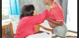 Skin Camp K. Thanda- Dr.Rohini screening a patient, K. Thanda 16-11-2013
