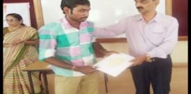 Pakiraswamy receiving AEW completion                     certificate