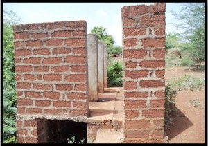 Public toilet ward no.3- before renovation                  Dubulgundi, June 13, 2014